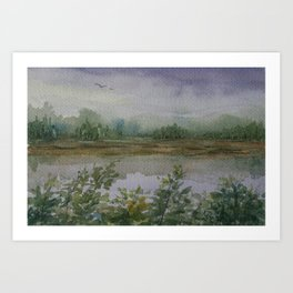 Misty Morning WC160216f Art Print