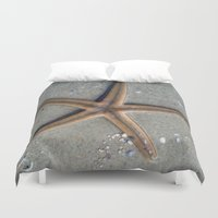starfish Duvet Covers featuring Starfish by Nichole B.