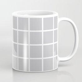 Light Grey Grid Pattern 2 Coffee Mug