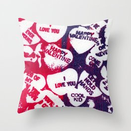 valentine love hearts Throw Pillow