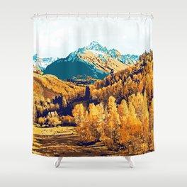Theo #painting #digitalart #nature Shower Curtain