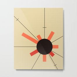paper sun || straw Metal Print