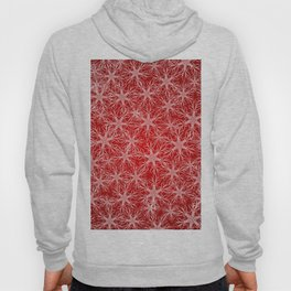 Snowflakes pattern on red background Hoody