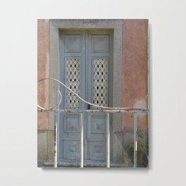 Bluish door Metal Print