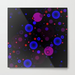 Circle Blue Purple and Red Metal Print