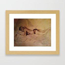 Mary Sleeping Framed Art Print
