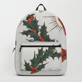 Vintage Christmas Greetings Wreath (1906) Backpack