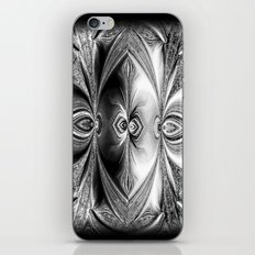 Abstract Peacock. Black+White. iPhone & iPod Skin