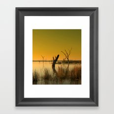 The Gate-Keeper of the Swamp Framed Art Print