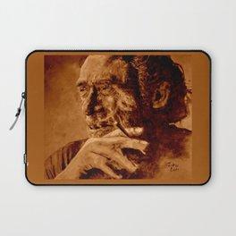 Charles Bukowski - quote - sepia Laptop Sleeve