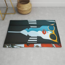 Girl with sunglasses Rug