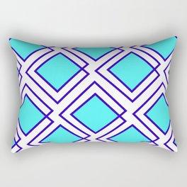 Turquoise Squared Rectangular Pillow