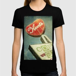 Heart's Coffee Shop Vintage Sign T-shirt