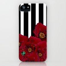 Poppy Stripes - Red Slim Case iPhone (5, 5s)