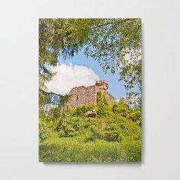 Castle ruin Hohenbourg Metal Print
