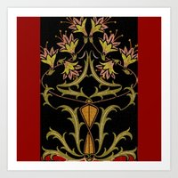art nouveau Art Prints featuring art nouveau by Ariadne