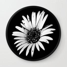 Daisy Delight in BW Wall Clock