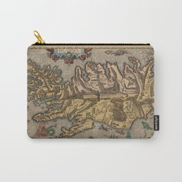 Antique Map Of Iceland 1603 Carry-All Pouch