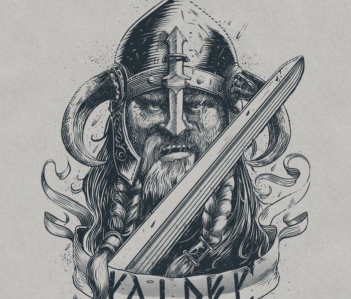 Raider (Viking) Metal Travel Mug