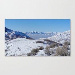 Salt Lake City Smog Canvas Print