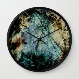 Marble ink abstract art Wall Clock