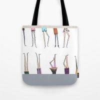 legs Tote Bags featuring Legs! by Pattes De Mouche