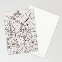 Charcoal Tropics Stationery Cards