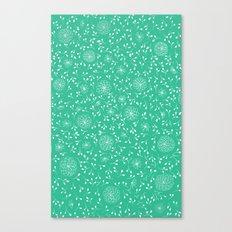 Dahlia Pattern, teal Canvas Print