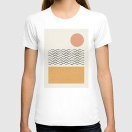 Sun Wave Beach - Abstract T-shirt