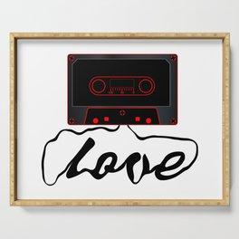 Unwound Love Audio Cassette Serving Tray