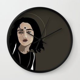 Woman as Element - Water Wall Clock
