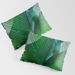Palm leaf jungle Bali banana palm frond greens Pillow Sham