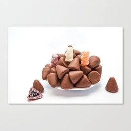 the cuberdons chocolate Canvas Print