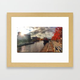 Lachine Canal Old Port Montreal Framed Art Print