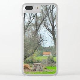 Green World II. Clear iPhone Case