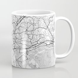 Marseille Map Gray Coffee Mug