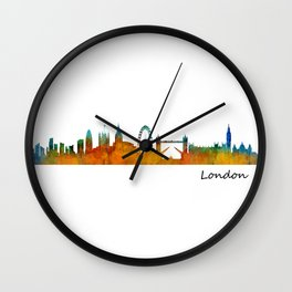 London City Skyline HQ v1 Wall Clock