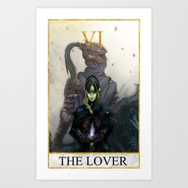 Tarot - The Lovers Art Print