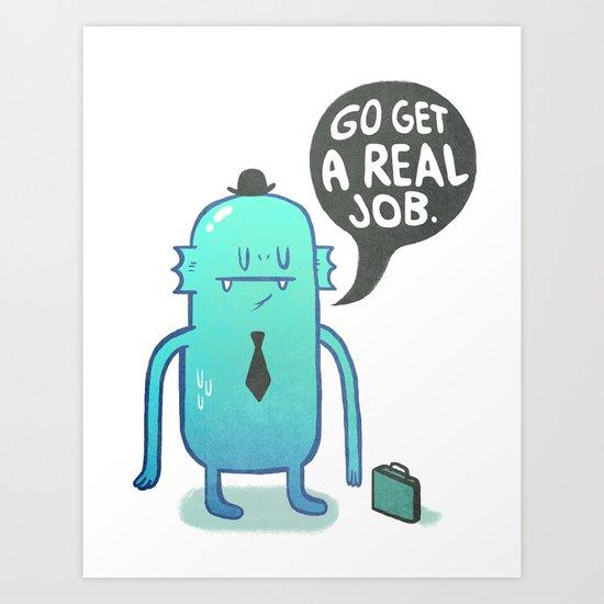 Job Hunt Art Print