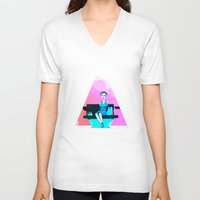 shopping V-neck T-shirts featuring Shopping by IOSQ