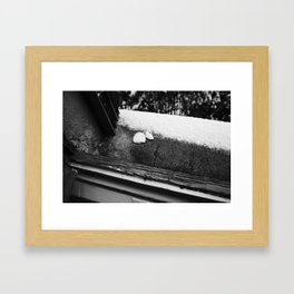 SOAP MEETS SNOW Framed Art Print