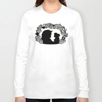 beauty and the beast Long Sleeve T-shirts featuring Beauty and the Beast  by eileenlim