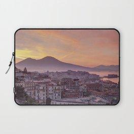 Napoli, landscape with volcano Vesuvio and sea Laptop Sleeve