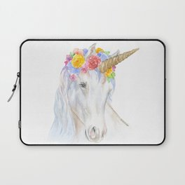 Unicorn Watercolor Painting Laptop Sleeve