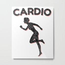 Cardio Running Female Metal Print