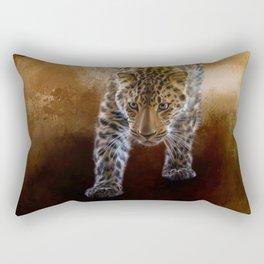 Russian Amur Leopard Rectangular Pillow