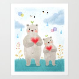 warm heart Art Print