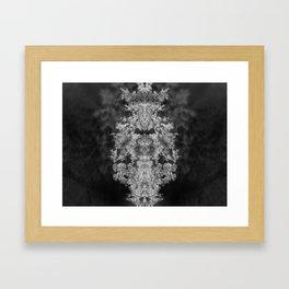 Dark trees Framed Art Print