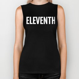 11th Eleventh Large Text Fun Winner Ironic Award Biker Tank