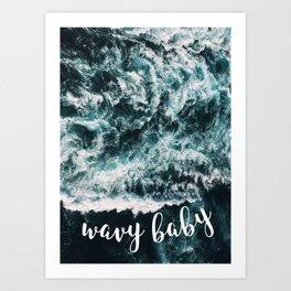 Wavy Baby Ocean Print Art Print